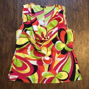 Lafayette 148 Printed Silk Blouse Size 14
